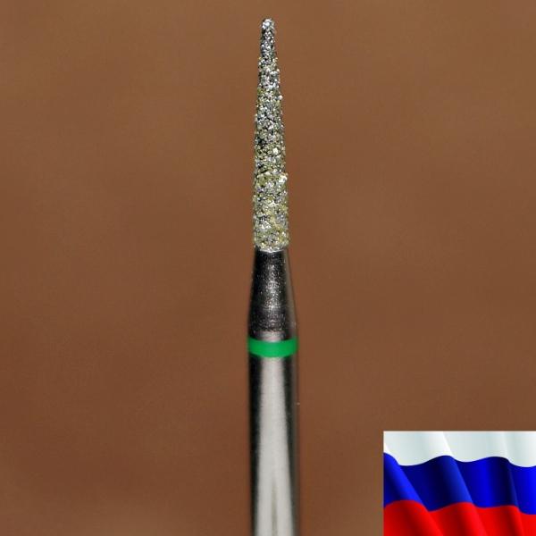 """Алмазная фреза """"ИГЛА цилиндрическая"""" (зеленая), d=1,6 мм"""