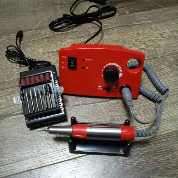 Аппарат для маникюра и педикюра DM-997 (красный), 35 тыс. об/мин