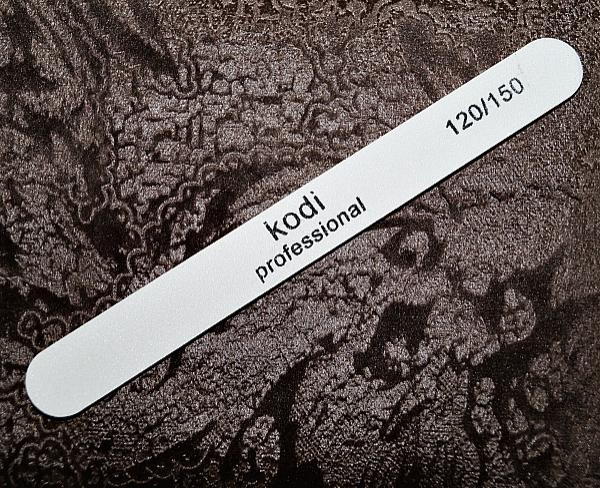 Пилка белая Kodi-Professional (прямая), 120/150 грит