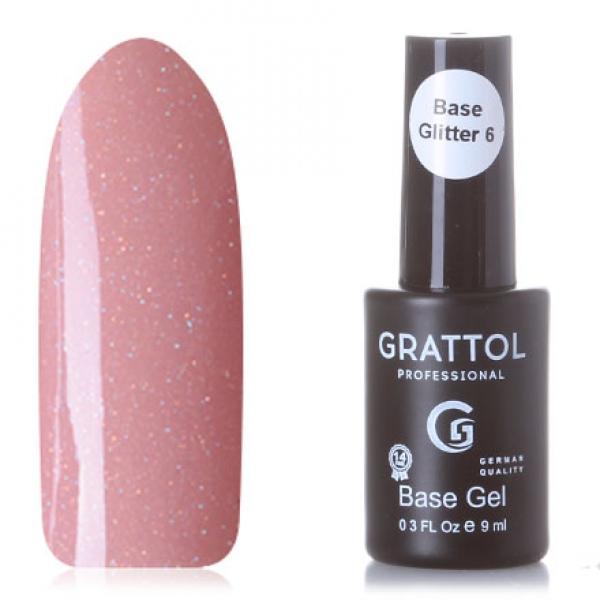 GRATTOL Rubber Base Glitter (база-камуфляж с шиммером), #6