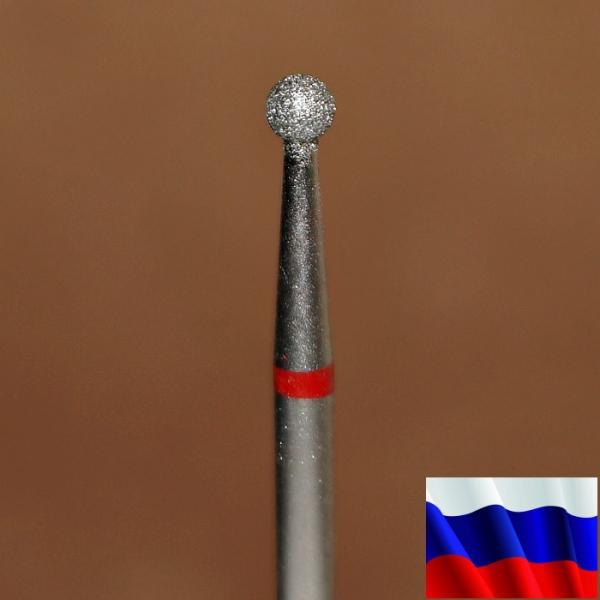 """Алмазная фреза """"ШАР"""" (красная), d=2,5 мм"""