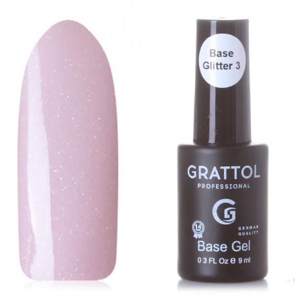 GRATTOL Rubber Base Glitter (база-камуфляж с шиммером), #3