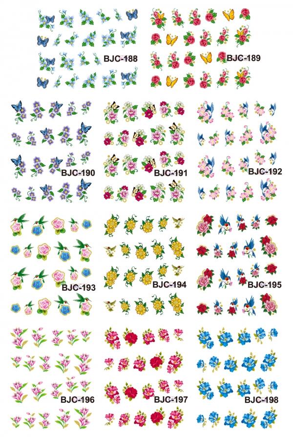 Наклейки цветные № BJC188-198, 11 штук на листе