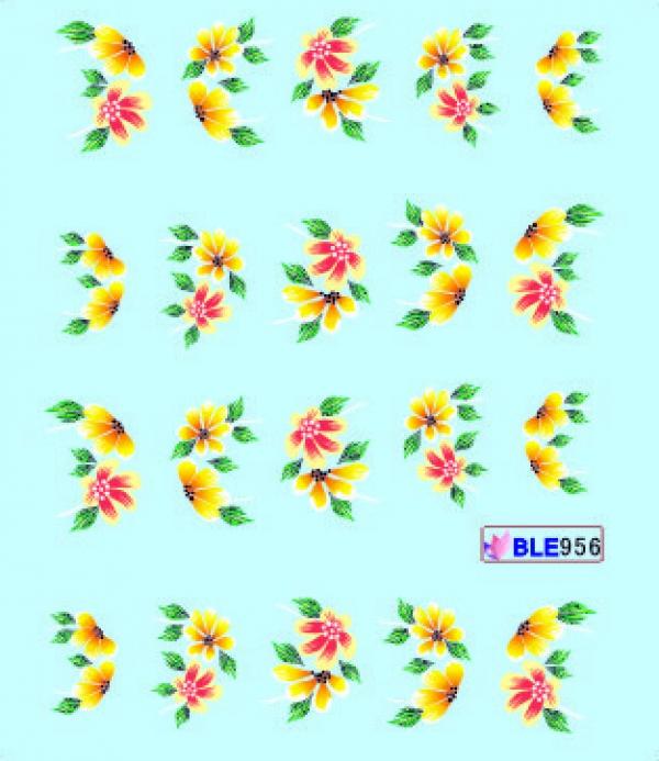 Наклейки цветные, № BLE956