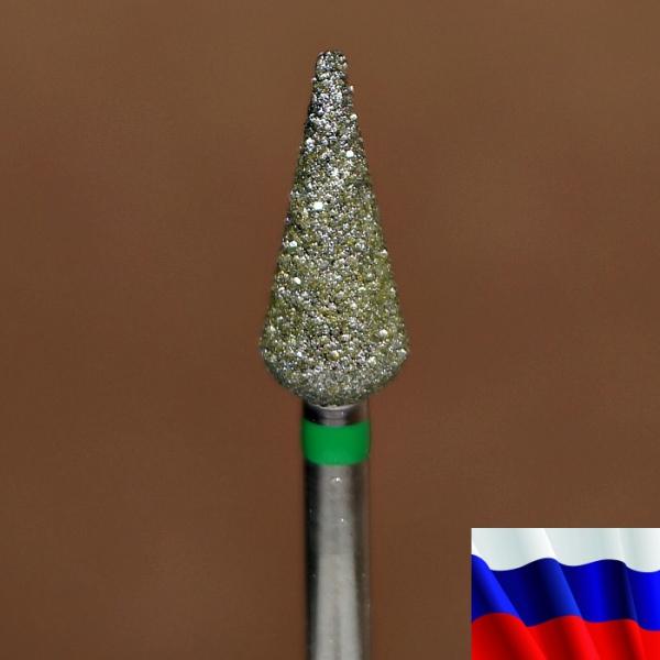 """Алмазная фреза """"ПОЧКА заостренная"""" (зеленая), d=5,0 мм"""