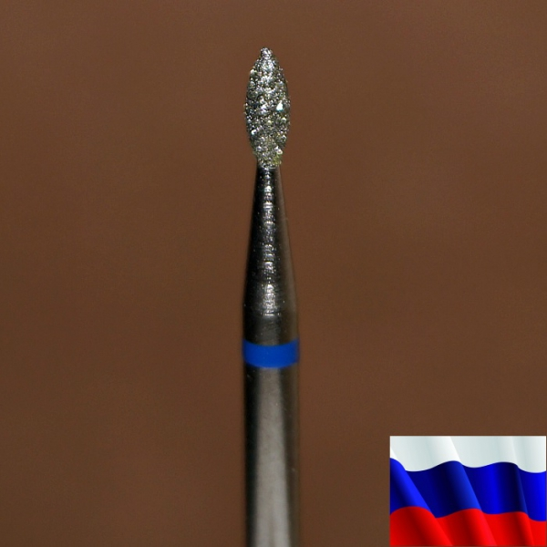 "Алмазная фреза ""ПОЧКА"" (синяя), d=1,6 мм"