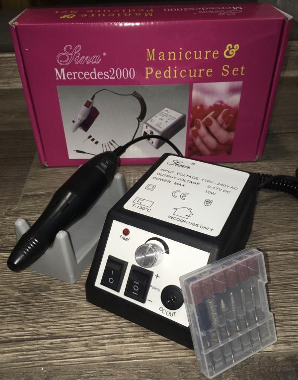 Машинка для маникюра MERCEDES-2000 (черная), 20 тыс. об/мин