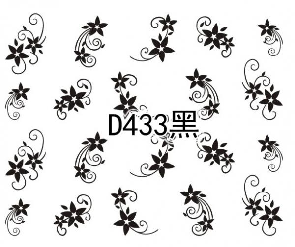 Наклейки черные, № D433