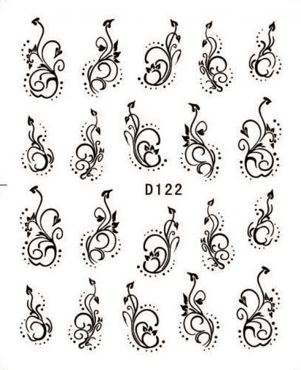 Наклейки черные, № D122