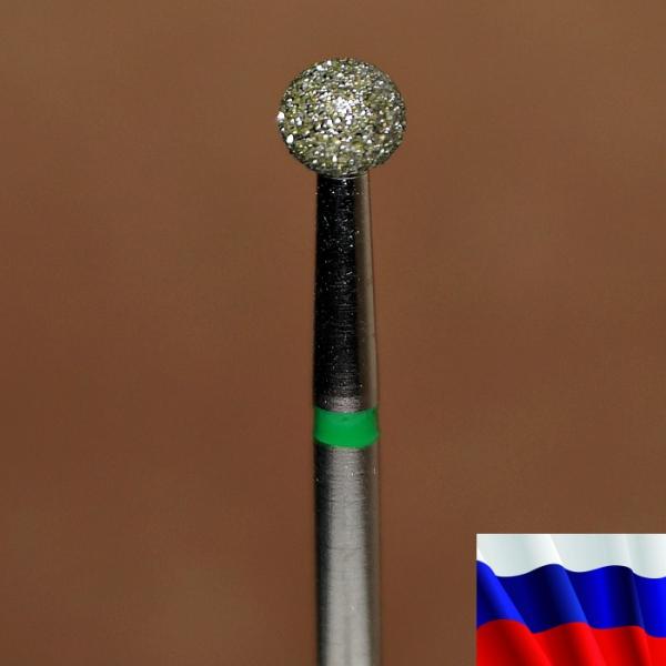 """Алмазная фреза """"ШАРИК"""" (зеленая), d=4,0 мм"""