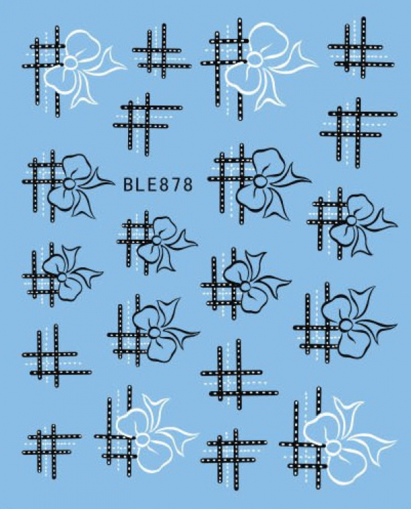 Наклейки черно-белые, № BLE878
