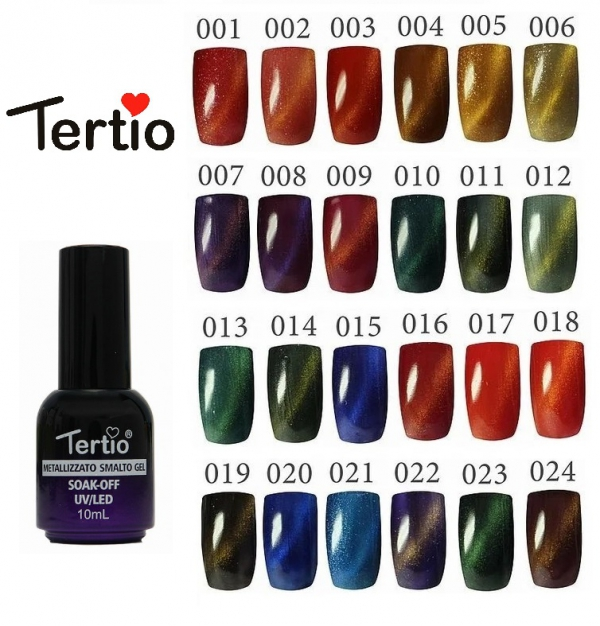 "Гель-лак ""Tertio"" Cat's Eye, № 01"