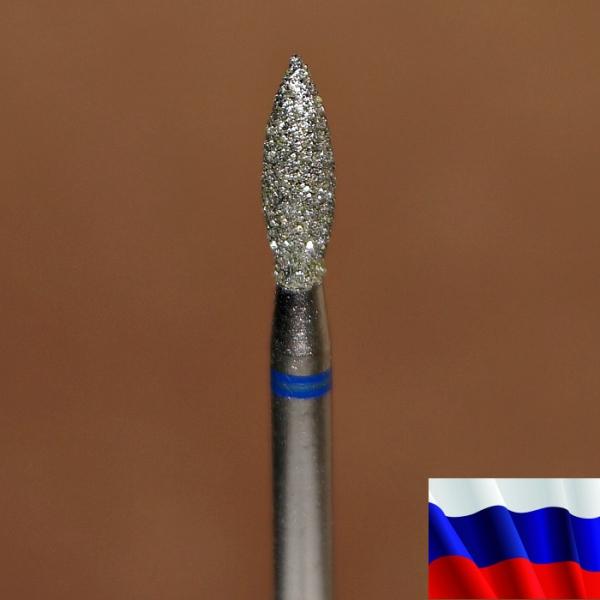 """Алмазная фреза """"ПЛАМЯ"""" (синяя), d=2,7 мм"""