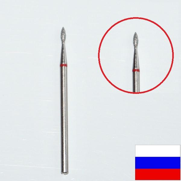 """Алмазная фреза """"ПОЧКА"""" (красная), d=1,4 мм"""