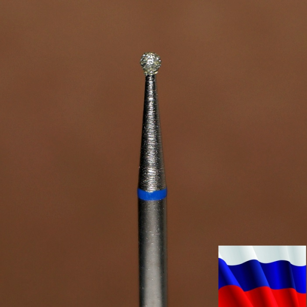 """Алмазная фреза """"ШАРИК"""" (синяя), d=1,6 мм"""
