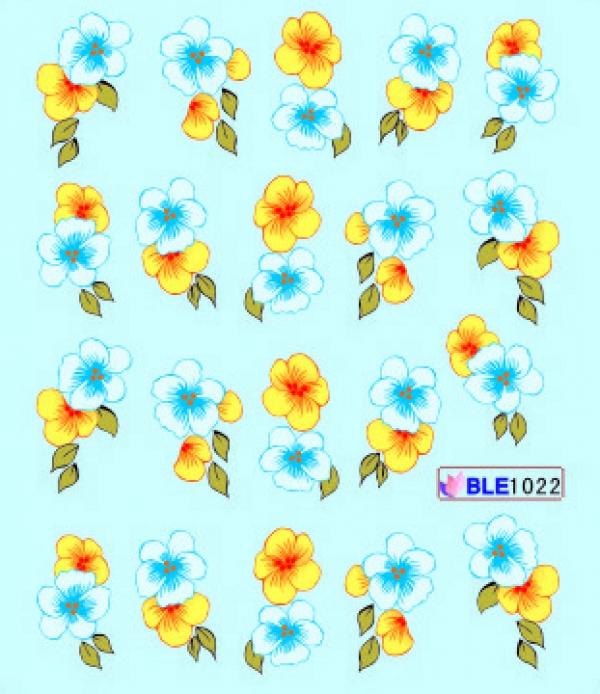 Наклейки цветные, № BLE1022