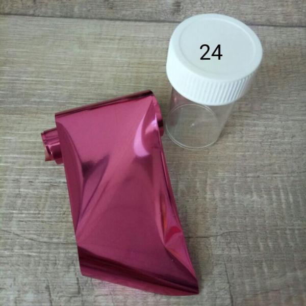 Переводная фольга 4*120 см (в баночке), #24