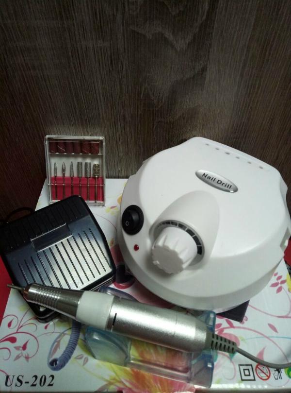 Аппарат для маникюра и педикюра US-202 (белый), 35 тыс. об/мин