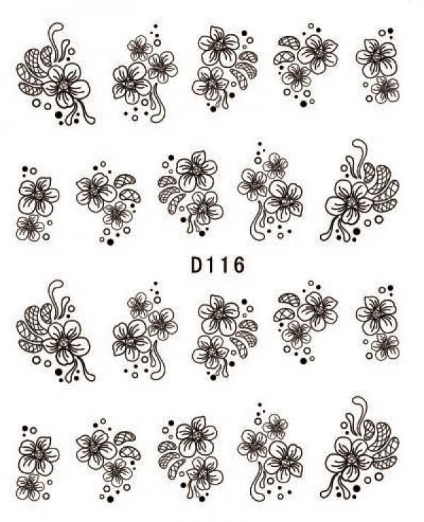 Наклейки черные, № D116