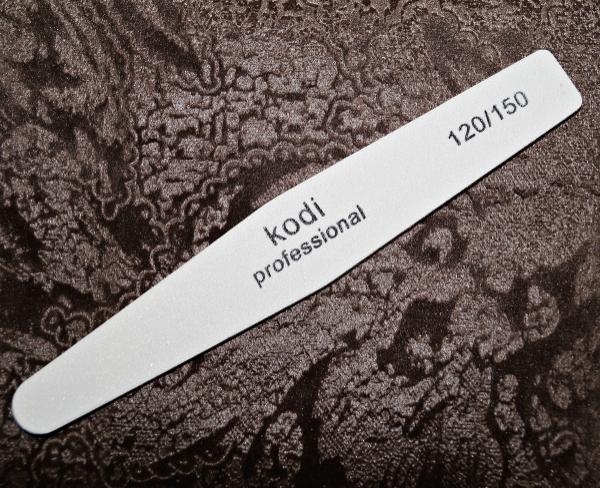Пилка белая Kodi-Professional (ромб), 120/150 грит