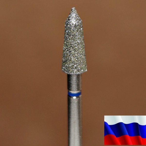 "Алмазная фреза ""ТОРПЕДА"" (синяя), d=4,0 мм"