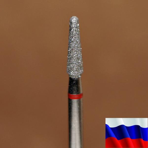 """Алмазная фреза """"КОНУС закругленный"""" (красная), d=2,5 мм"""