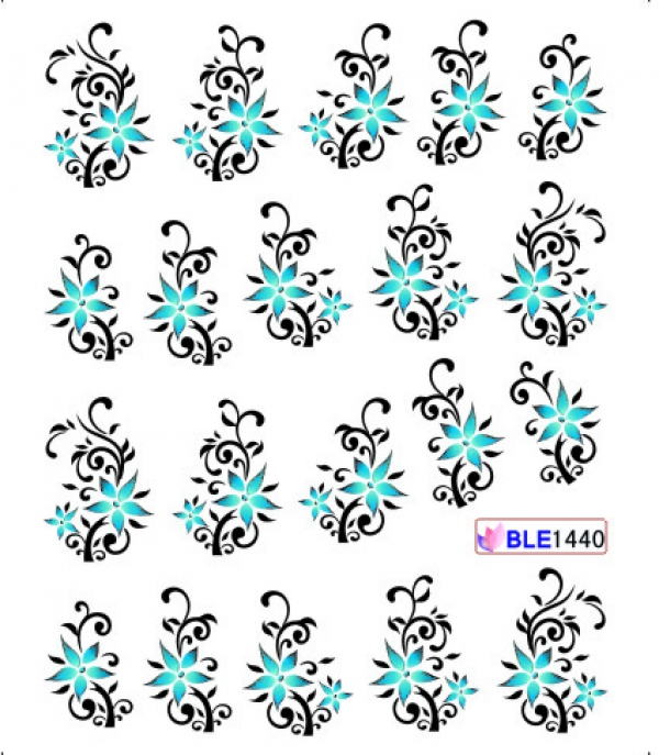 Наклейки цветные, № BLE1440