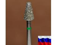 """Алмазная фреза """"КОНУС закругленный"""" (зеленая), d=5,0 мм"""