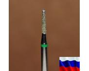 """Алмазная фреза """"КОНУС закругленный"""" (зеленая), d=1,8 мм"""