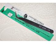 Изогнутый пинцет (черная ручка)