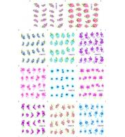 Наклейки цветные № BLE1170-1180, 11 штук на листе