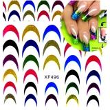 """Наклейки на ногти """"Цветной френч"""""""