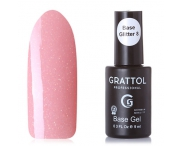 GRATTOL Rubber Base Glitter (база-камуфляж с шиммером), #8