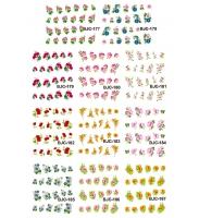 Наклейки цветные № BJC177-187, 11 штук на листе