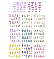 Наклейки цветные № BLE1742-1752, 11 штук на листе