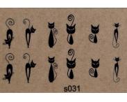 """Фотодизайн для ногтей """"Кошки"""", s031"""