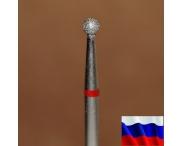 """Алмазная фреза """"ШАР"""" (красная), d=2,3 мм"""