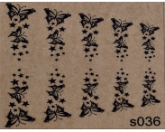"Фотодизайн для ногтей ""Бабочки"", s036"