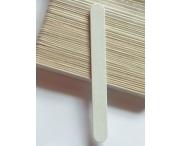 Пилка белая ТОНКАЯ (на деревянной основе), 240/240 грит