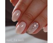 GRATTOL Rubber Base Glitter (база-камуфляж с шиммером), #1