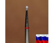 """Алмазная фреза """"ШАР"""" (красная), d=1,6 мм"""