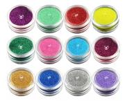 Блеск цветной для ТАТУ, 12 штук в наборе