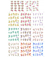 Наклейки цветные № BLE1533-1543, 11 штук на листе