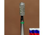 """Алмазная фреза """"ЦИЛИНДР закругленный"""" (зеленая), d=3,3 мм"""