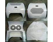Пылесос маникюрный + UV LED лампа 80 Вт (2 в 1)