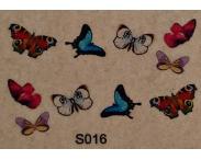 "Фотодизайн для ногтей ""Бабочки"", s016"